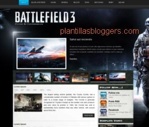 plantilla para blogger Battlefield 3