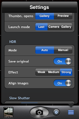 top camera app settings