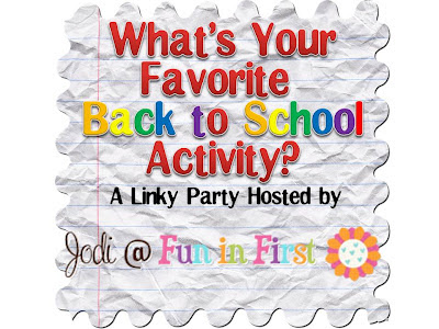 activities and to share my favorite back to school activity