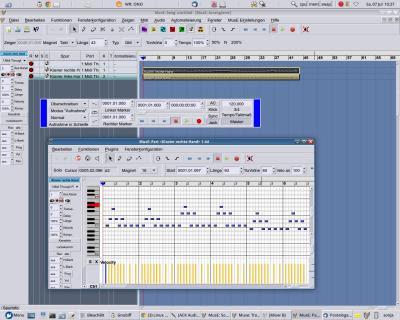 """Edição de """"notas"""" MIDI, tornando um sequenciador bastante completo"""