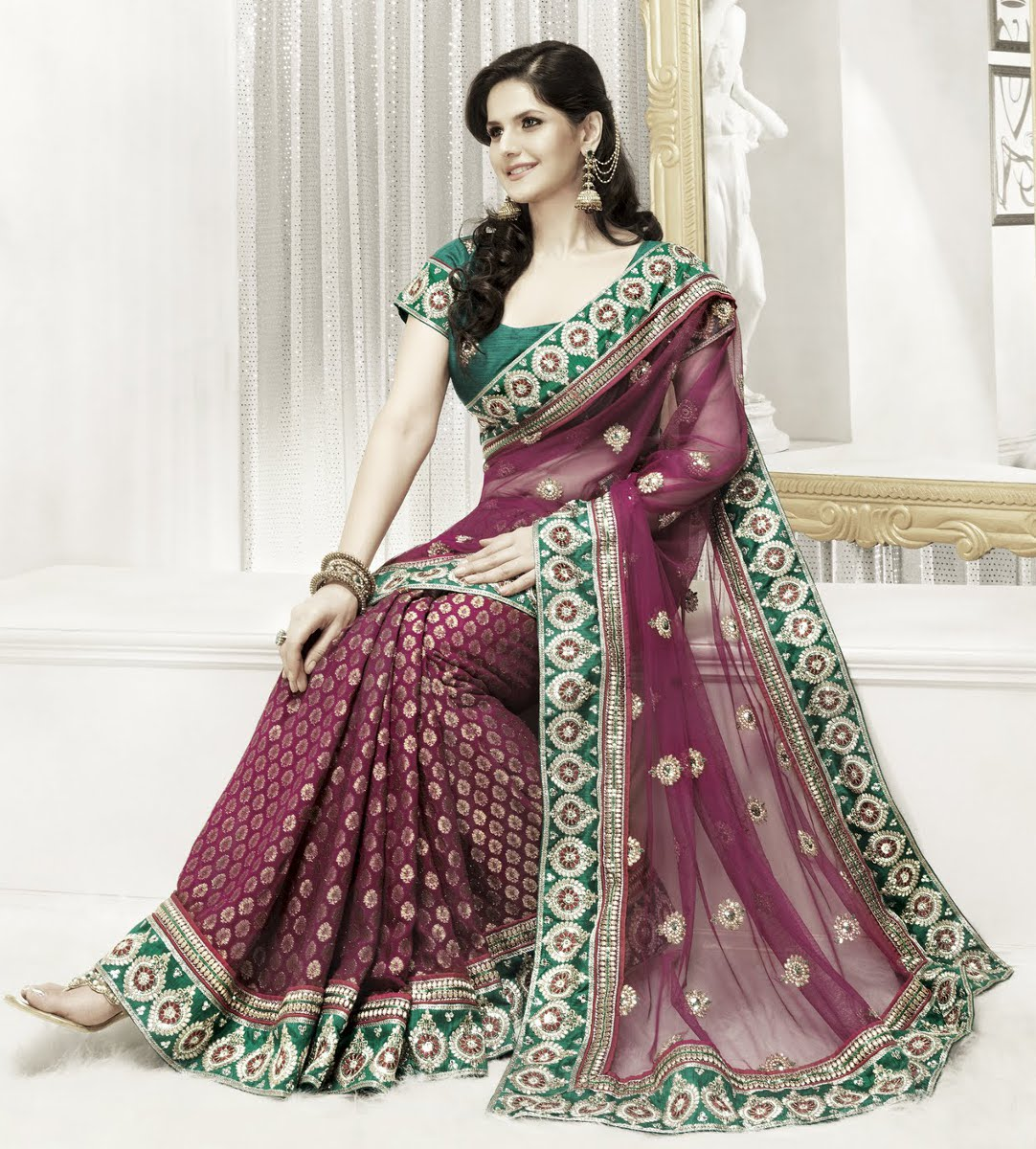 Purple Indian Wedding Dress