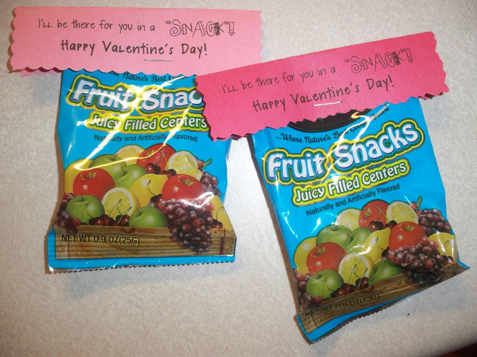 Fruit Snack Printable Valentineu0027s