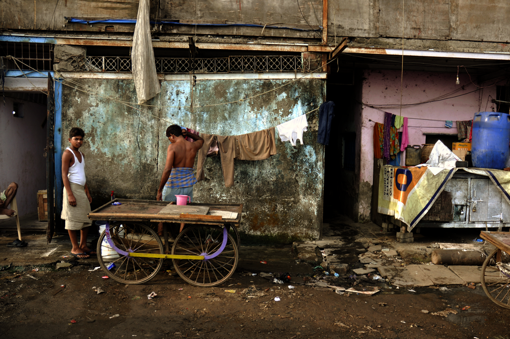 Photo from Dharavi which is called the shadow city of Mumbai.