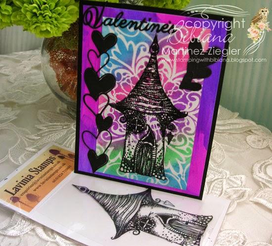 Lavinia neon card for valentine's last view