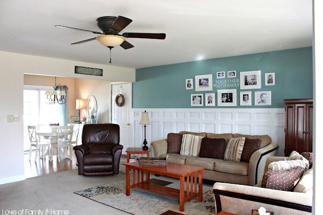 Board Batten Gallery Wall In The Living Room