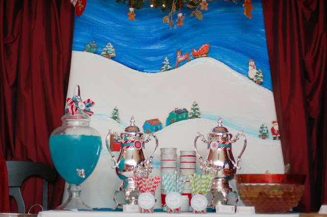 Christmas Scene Cookie Backdrop