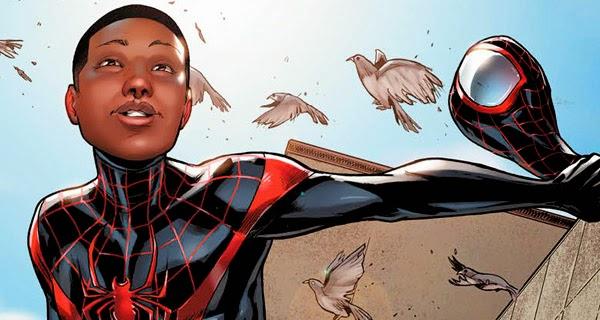 Miles Morales Spider-Man negro