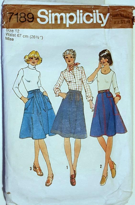 Simplicity 7189 vintage skirt www.loweryourpresserfoot.blogspot.com