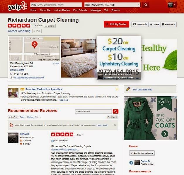 Richardson Carpet Cleaning On Yelp