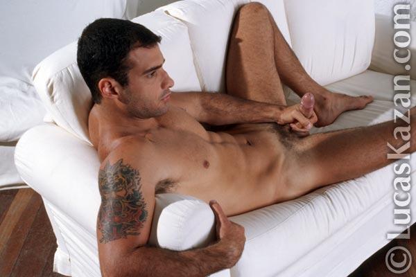 Something is. Leon fala naked