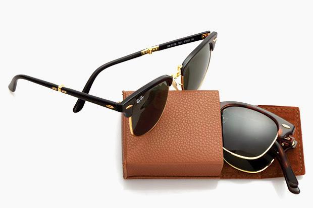 Óculos de Sol Ray Ban Clubmaster Dobrável - Design Innova 176ee46ea6