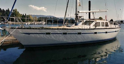 Cooper 508 pilothouse sloop at dock in Vancouver