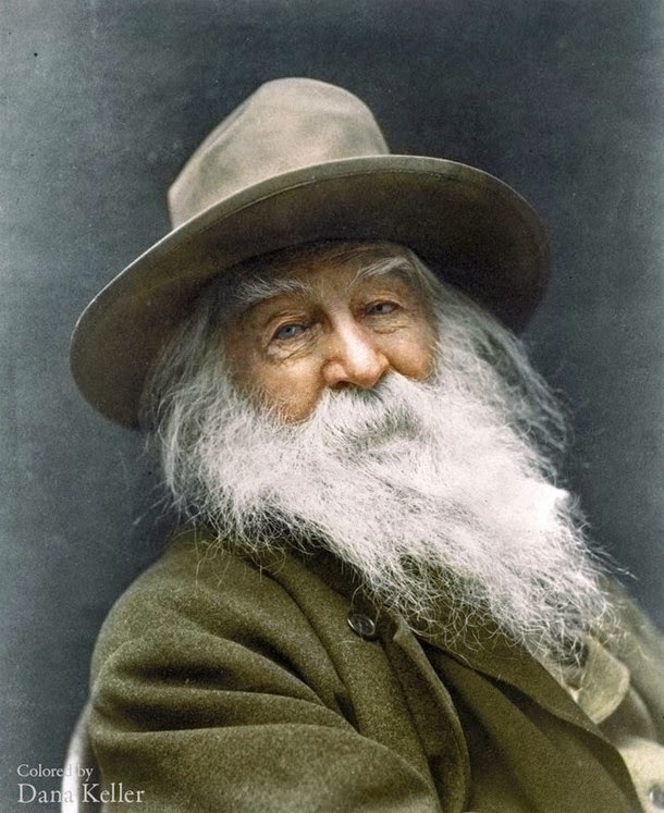 28 Realistically Colorized Historical Photos Make the Past Seem Incredibly Alive - Walt Whitman, 1887