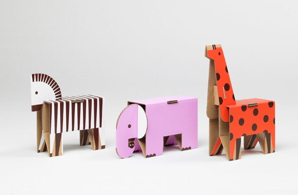 Fold up paper animals