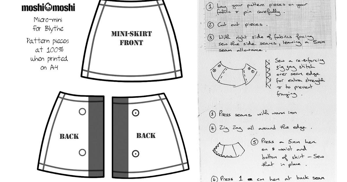 Moshi Moshi Make A Moshi Mini Skirt For Blythe