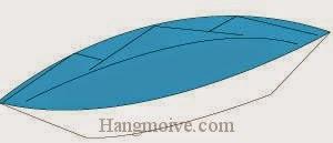 Bước 7: Hoàn thành cách xếp chiếc thuyện bằng giấy origami đơn giản.