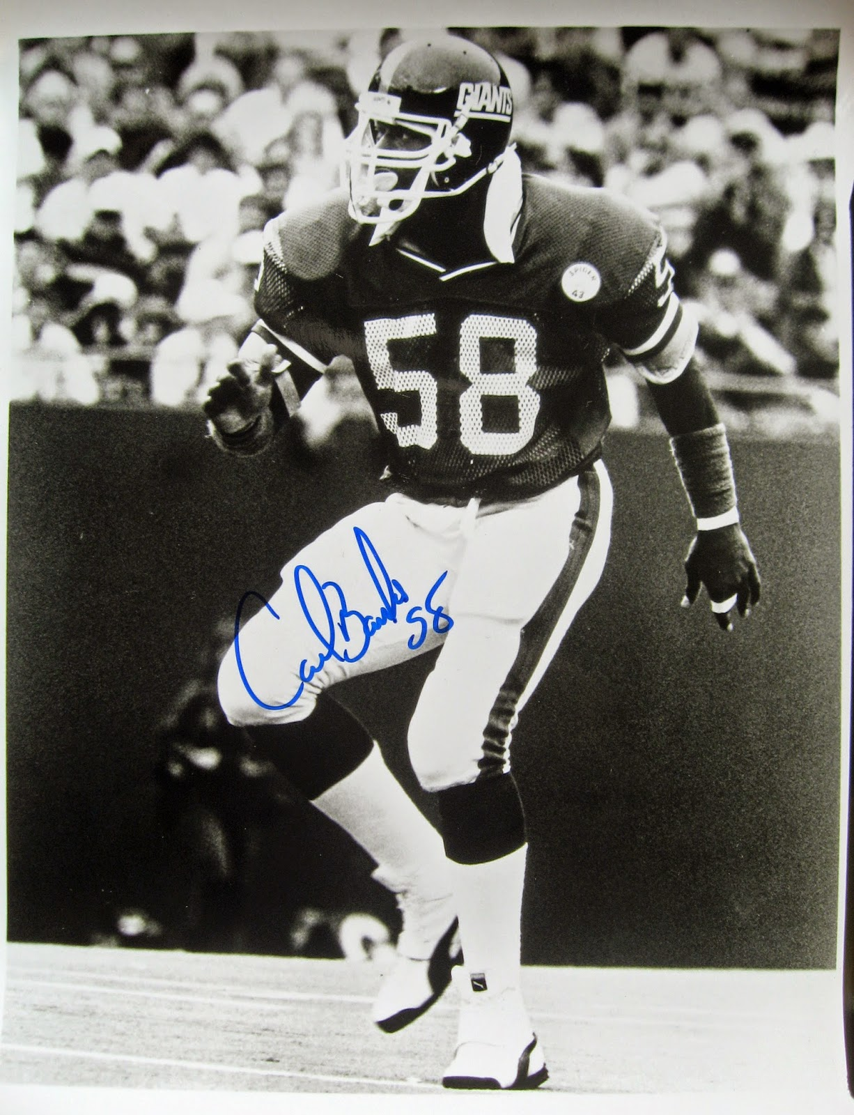 My autographed photo of Carl Banks