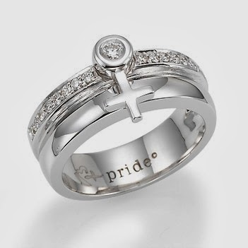 buy 14k White Gold Female Insignia Combination Ring