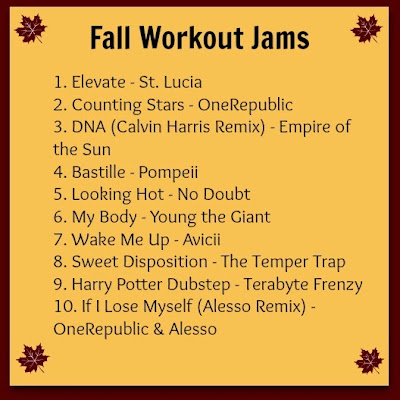 fall workout jams