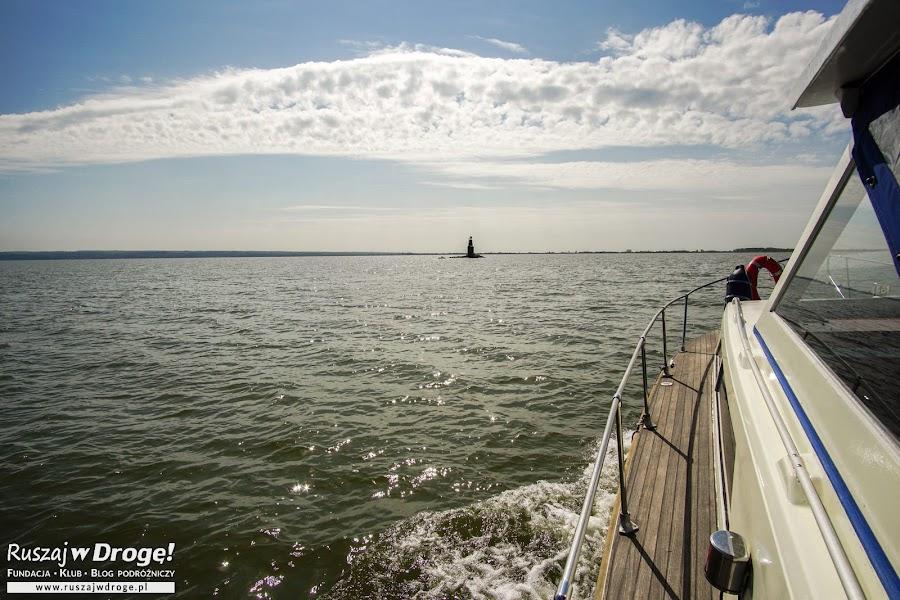 Zalew Wiślany z poziomu łodzi