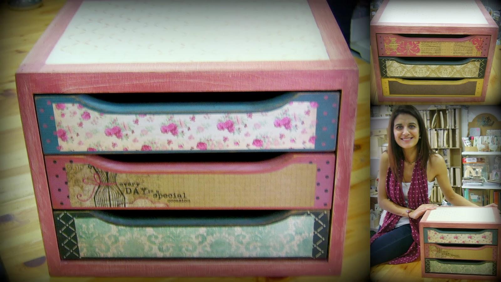 Las casitas de papel mas fotos cajoneras decoradas - Cajoneras decoradas ...