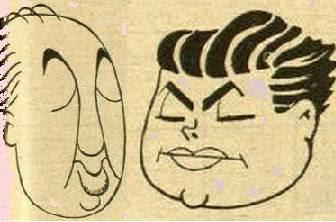 Caricaturas de Najdorf y Guimard