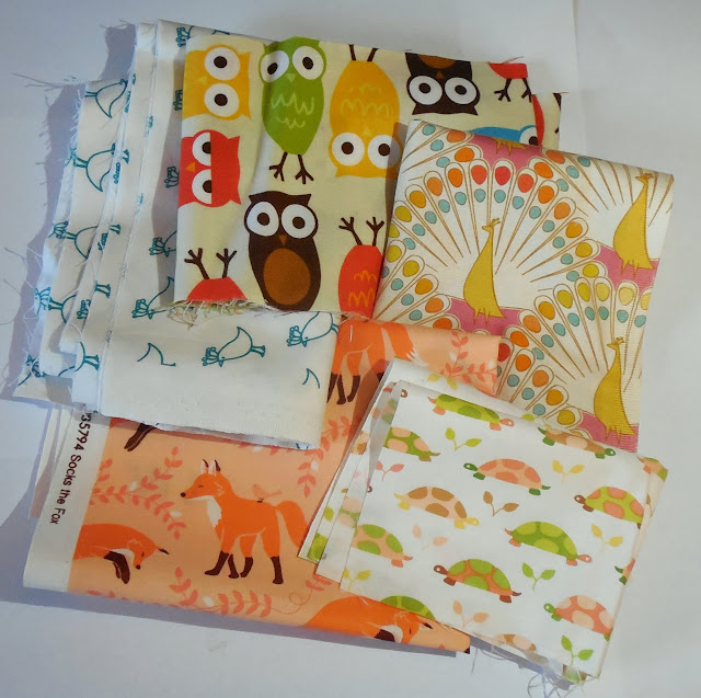 cute animal fabric scraps