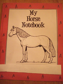 My horse notebook