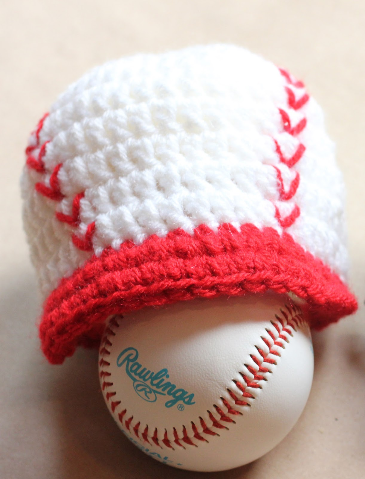 Free Crochet Pattern Newborn Baseball Cap : Repeat Crafter Me: Crochet Baseball Cap