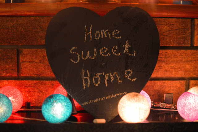 Heart slate chalk board sign