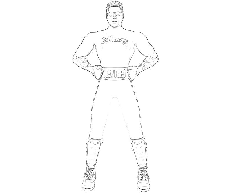 Mortal Kombat Johnny Cage Free Coloring Pages
