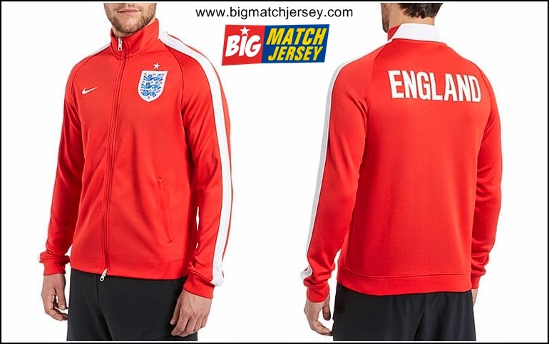 Jual Jaket Grosir Piala Dunia 2014 Inggris World Cup WC Merah Logo Terbaru Official