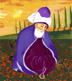 poesie de Rumi qui ouvre à Dieu, l'intuition dépasse les limites du temps et de l'espace
