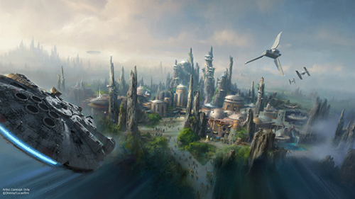 News about the new 'Star Wars' lands coming to Disney Parks.