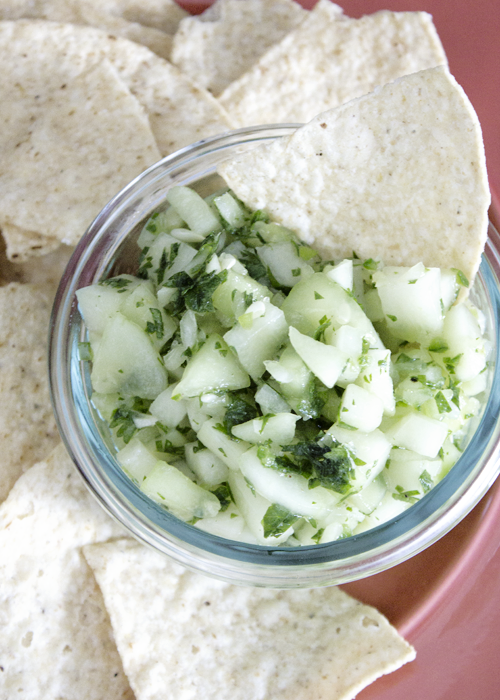 Chayote Cucumber Salsa {so sweet like sarah}