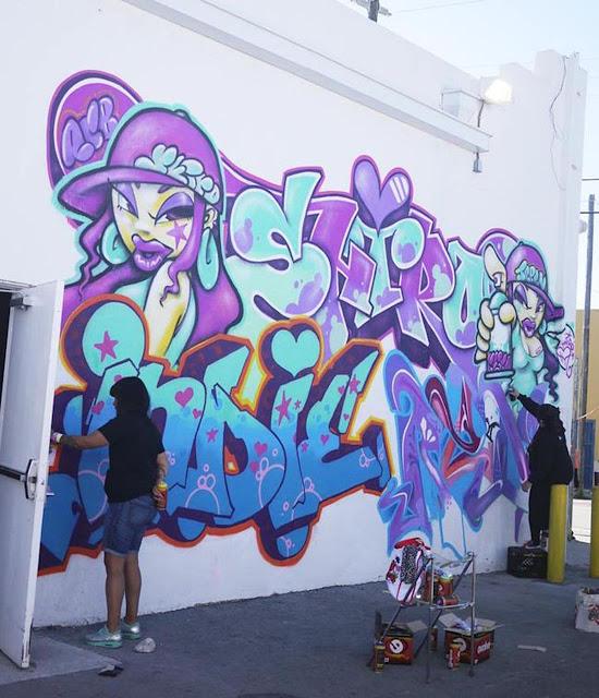 Shiro Indie Graffiti Alphabet Blue Spray Paint