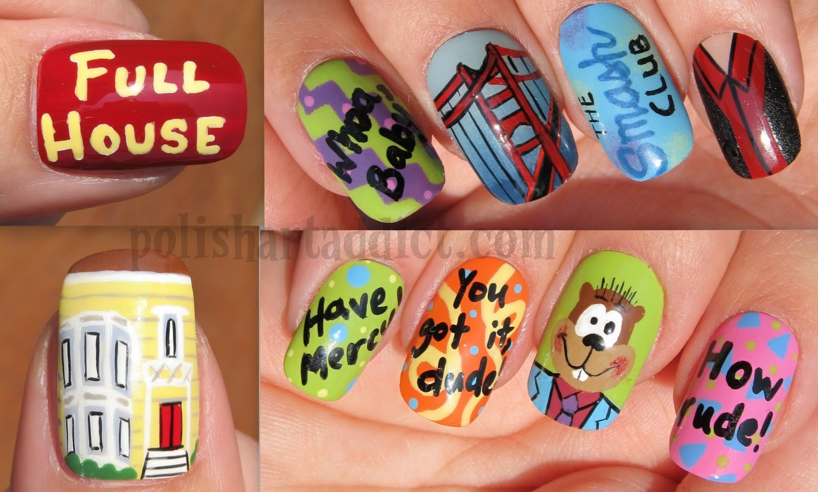 Nail Art That Honors the 90\'s - Britney and Justin | Guff
