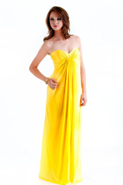 Yellow Homecoming Dresses 26