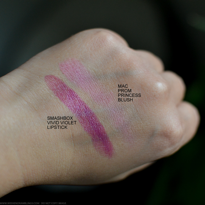 Smashbox Be Legendary Lipstick Vivid Violet MAC Prom Princess Blush