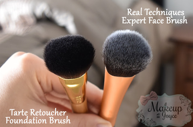 Tarte Retoucher Brush vs Real Techniques Expert Face Brush Review