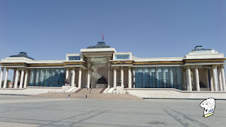 The Government Palace at Chinggis Khaan Square