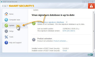 how to use eset nod32 password and username. You can try 2 update eset smart securities (ESS) virus signature database