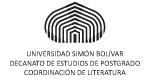 Universidad Simón Bolívar Coordinación de Postgrado en Literatura