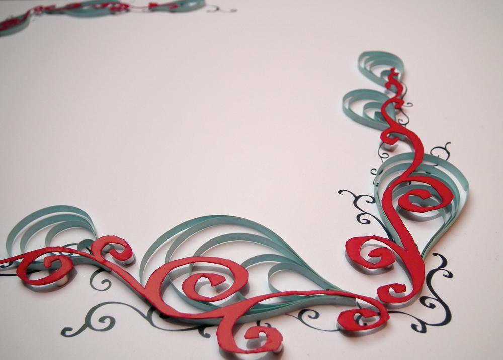 Coloured Calligraphy Border Designs Pixshark
