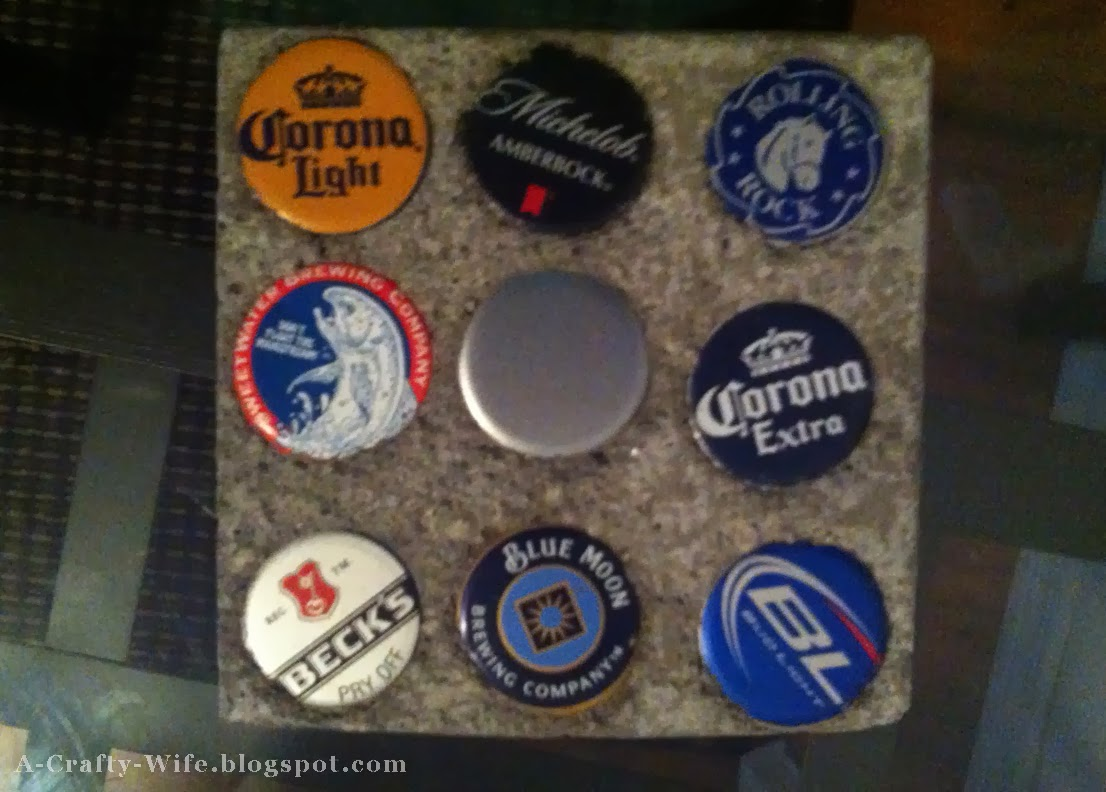 Concrete bottlecap beer coasters for man gift