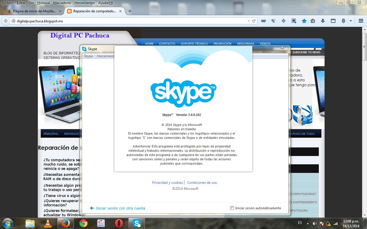 Actualizacion skype 7 para windows