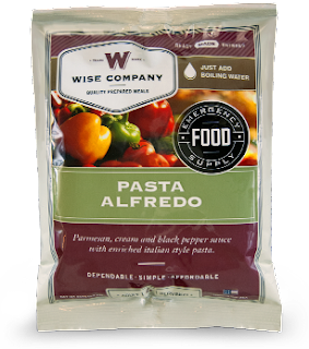 Wise Company free sample pasta alfredo