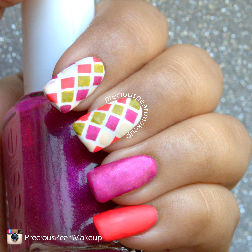 preciouspearlmakeup: #31DC2015 Day 24: The Circus Inspired Nails