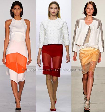 Прозрачни къси поли поли за пролет-лято 2013