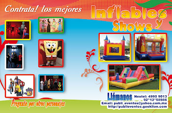 Renta de Inflables y Shows en el D. F.